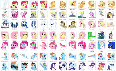 Stiker Sticker Pony 101 ponies by blacknebular stickers telegram
