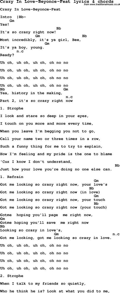 Guitar Chords Beyonce
