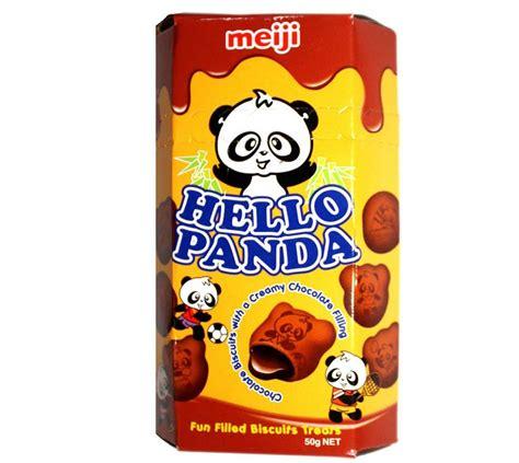biskuit meiji hello panda 12 pcs meiji hello panda biscuits chocolate 50 g of