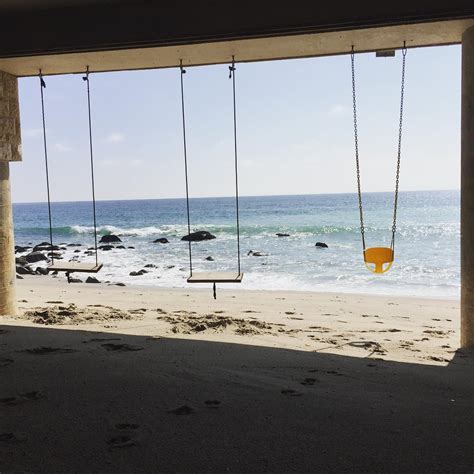 beach swings swings in paradise on the beach in malibu california
