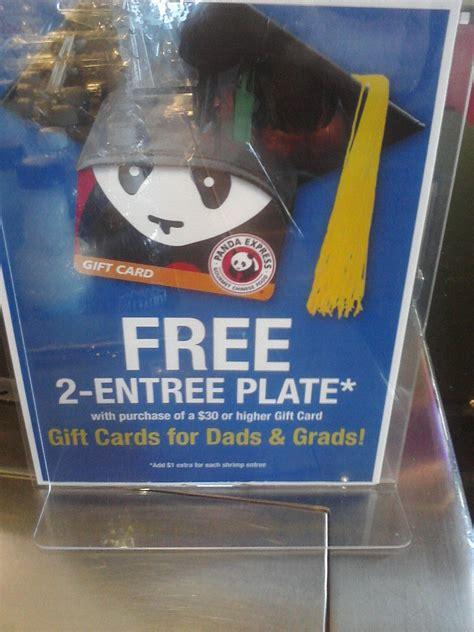 Panda Express Gift Card At Walgreens - panda express free 2 entree plate wyb 30 gift card who said nothing in life is free