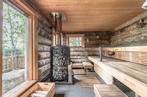 sauna cabin luxury log cabin in finland