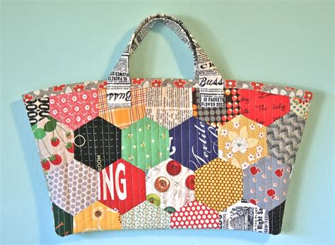 Patchwork Bags Free Patterns - purse palooza pattern review patchwork hexagon