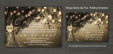 oak tree wedding invitations vintage rustic wedding invitations