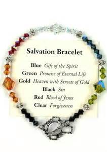 salvation bracelet color meanings salvation bracelet meaning of each color daily prayer