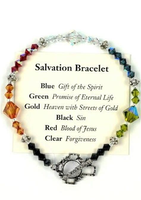 salvation bracelet color meaning pin craft ideas prayer image search results on