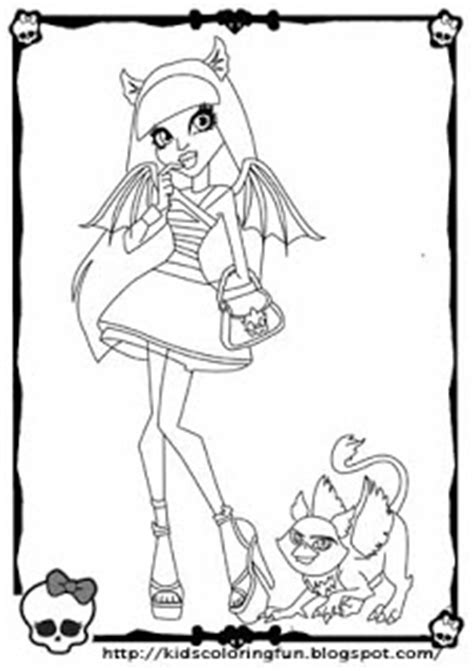 monster high rochelle coloring pages monster high rochelle goyle all free coloring page for kids