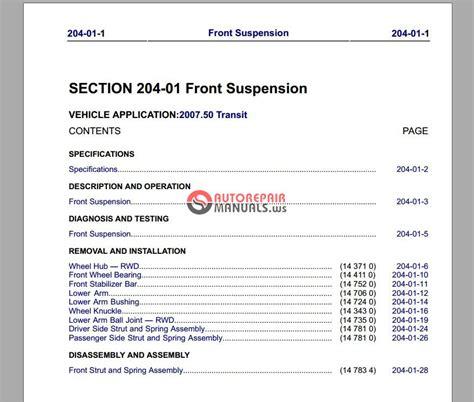 car repair manuals download 2007 ford e350 navigation system ford transit 2007 workshop manual auto repair manual forum heavy equipment forums download