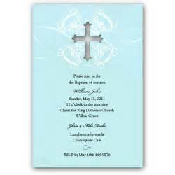 baptism invitation sles invitations ideas
