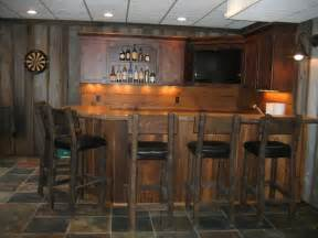 Fun Kitchen Decorating Themes Home bar styed as pub rustic kitchen cleveland by
