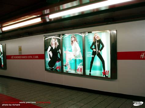 Madonna For Hm Billboard Vandalized by M By Madonna World Premiere In Hong Kong Tonight