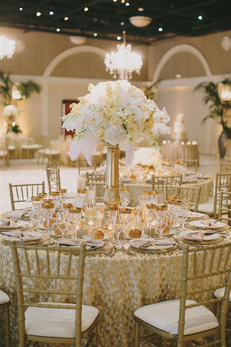 white gold wedding decorations glamorous gatsby inspired white and gold wedding 187 napa