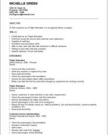 Flight Attendant Resume Exle by Flight Attendant Resume Template Resume Format Pdf