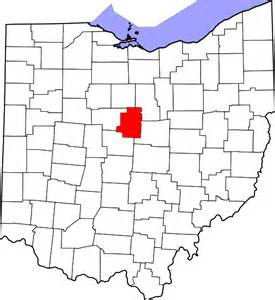 file map of ohio highlighting morrow county svg