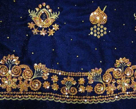 embroidery and on fabric polyester embroidery velvet fabric with metallic id