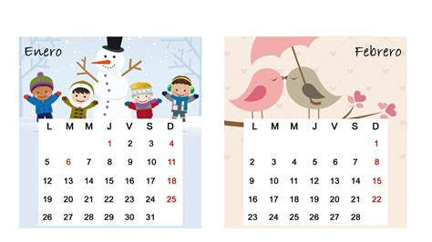 de febrero de 2015 calendario de mesa del 2015 meses de enero y febrero