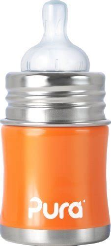 Pura Stainless Steel Infant Bottle 11oz325ml With Xl Sipper Mura pura stainless steel 5oz baby bottle orange the
