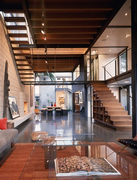 modern living room industrial living room los angeles by ehrlich architects