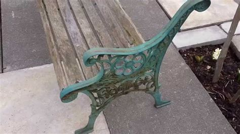 restore cast iron bench restoring edwardian cast iron wood bench youtube