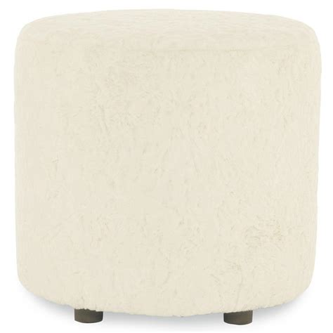 white faux fur ottoman grayson hollywood regency white faux fur round ottoman
