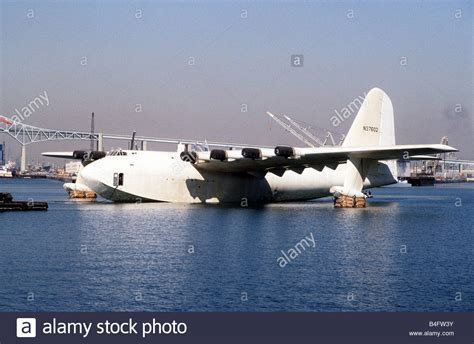 flying boat hughes aircraft howard hughes flying boat the spruce goose is towed across