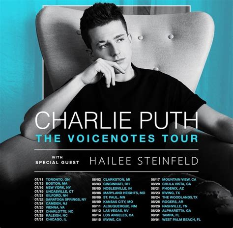 charlie puth voicenotes tour charlie puth announces the voicenotes tour 2018 see all