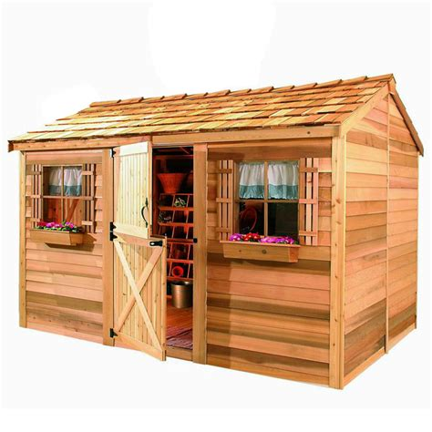 shop cedarshed cabana gable cedar storage shed common