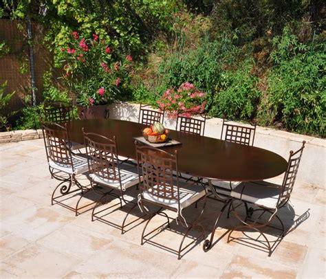 salon jardin fer forge salon de jardin table ronde fer forge qaland