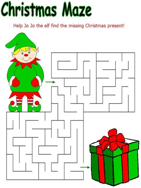 printable holiday maze 26 best christmas printables images on pinterest
