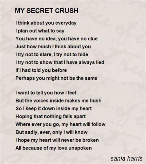 secret poems for secret crush quotes like success