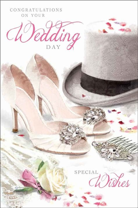wedding place cards next day delivery wedding day card jonny javelin top hat shoes