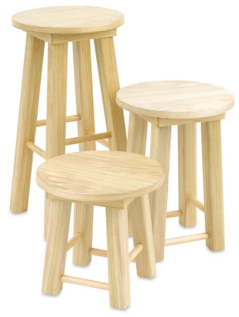 Stool Is Not Solid by Solid Poplar Stools Blick Materials
