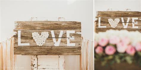 29. vintage LOVE sign vintage chic weddings DIY decor