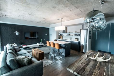 loft einrichtungsideen industrial loft design with an intriguing color palette