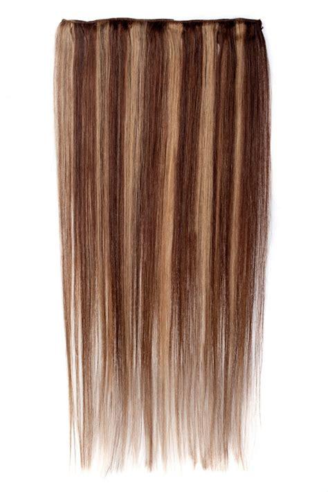 crown clip in hair extension blonde highlights on crown dark brown hairs