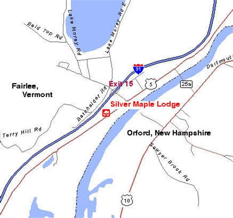 uvm cus map silver maple lodge a historic bed and breakfast country inn located in fairlee vermont