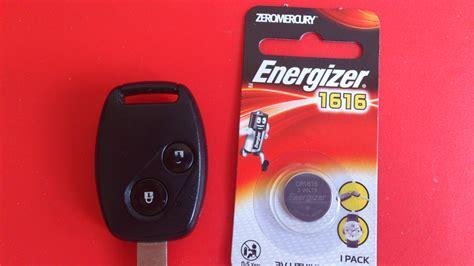 changing honda car remote fob battery accessories mycarforumcom