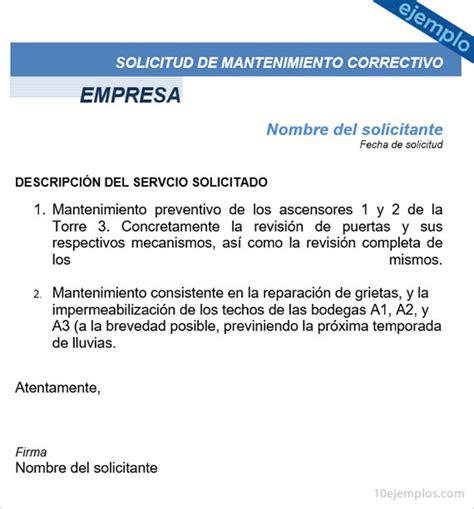 Formato Solicitud A Una Autoridad Administrativa Gratis | ejemplos de formato de solicitud de mantenimiento