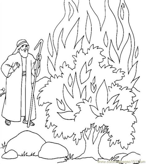 1000 Images About Preschool February On Pinterest Coloring Pages For Preschool Moses And The Burning Bush