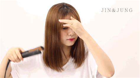 hair straightening for big face how korean girls style their bangs in the cutest way