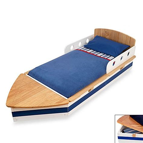 toddler boat bed buy kidkraft 174 boat toddler bed from bed bath beyond