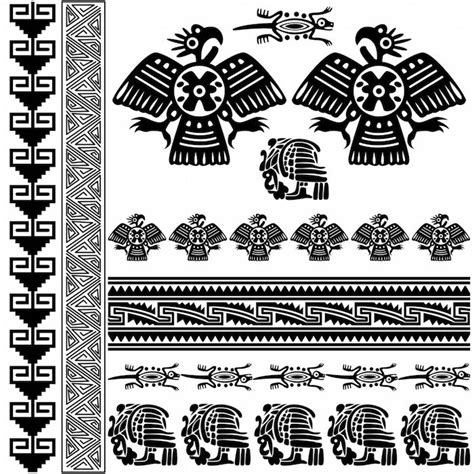 Aztec Tribal Pattern Meaning | 100 tribal aztec tattoos honor ancient the 25 best