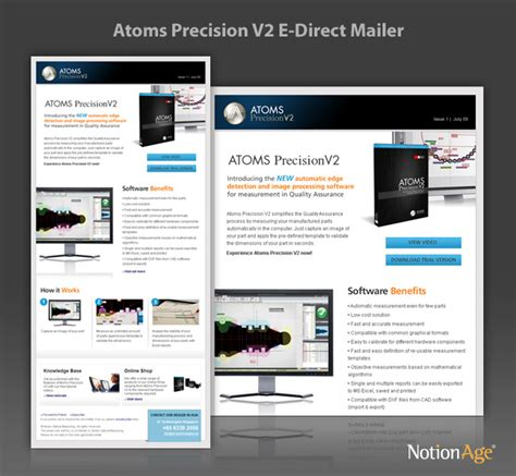 Atoms Precision V2 Email Marketing Notion Age Direct Mail Template Indesign