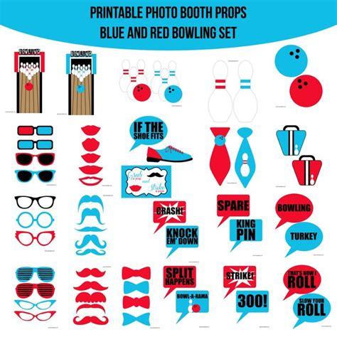 printable hockey photo booth props 75 mejores im 225 genes sobre bowling party en pinterest