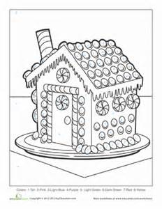christmas color by number worksheet education com