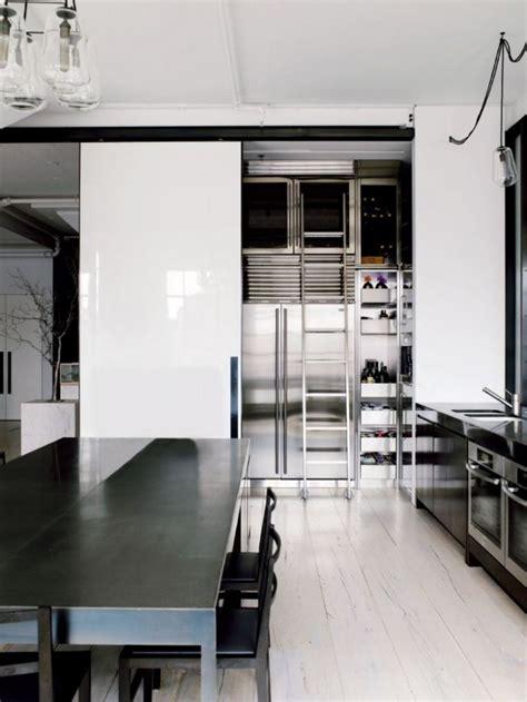 Loft Modern Kitchen best design idea black and white kitchen contemporary loft