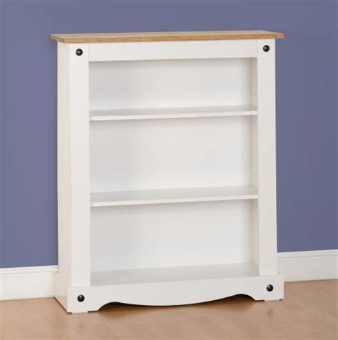 Corona Low Bookcase White Low White Bookcase