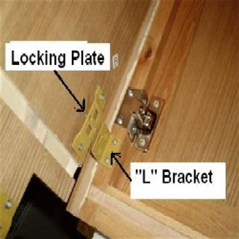 "Position side panel over edge of face frame, align ""L"