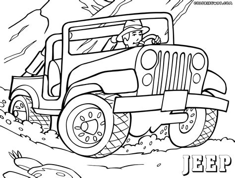 coloring in pages printable jeep coloring pages coloring pages to download and print