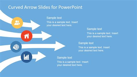 arrow powerpoint template curved arrows powerpoint template slidemodel